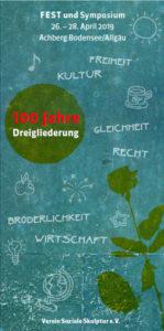 100 Jahre Dreigliederung